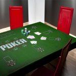 Mantel poker grande verde