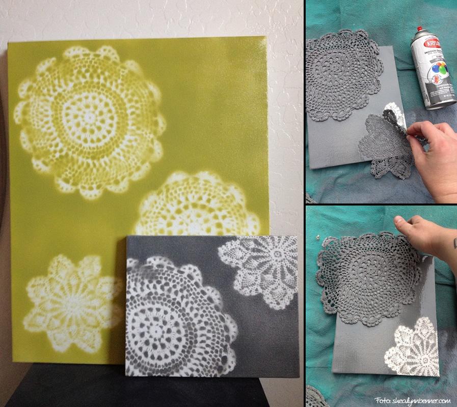 Hazlo t mismo cuadros con plantillas - Manualidades cuadros modernos ...