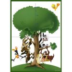 Vinilo growing tree looney tunes