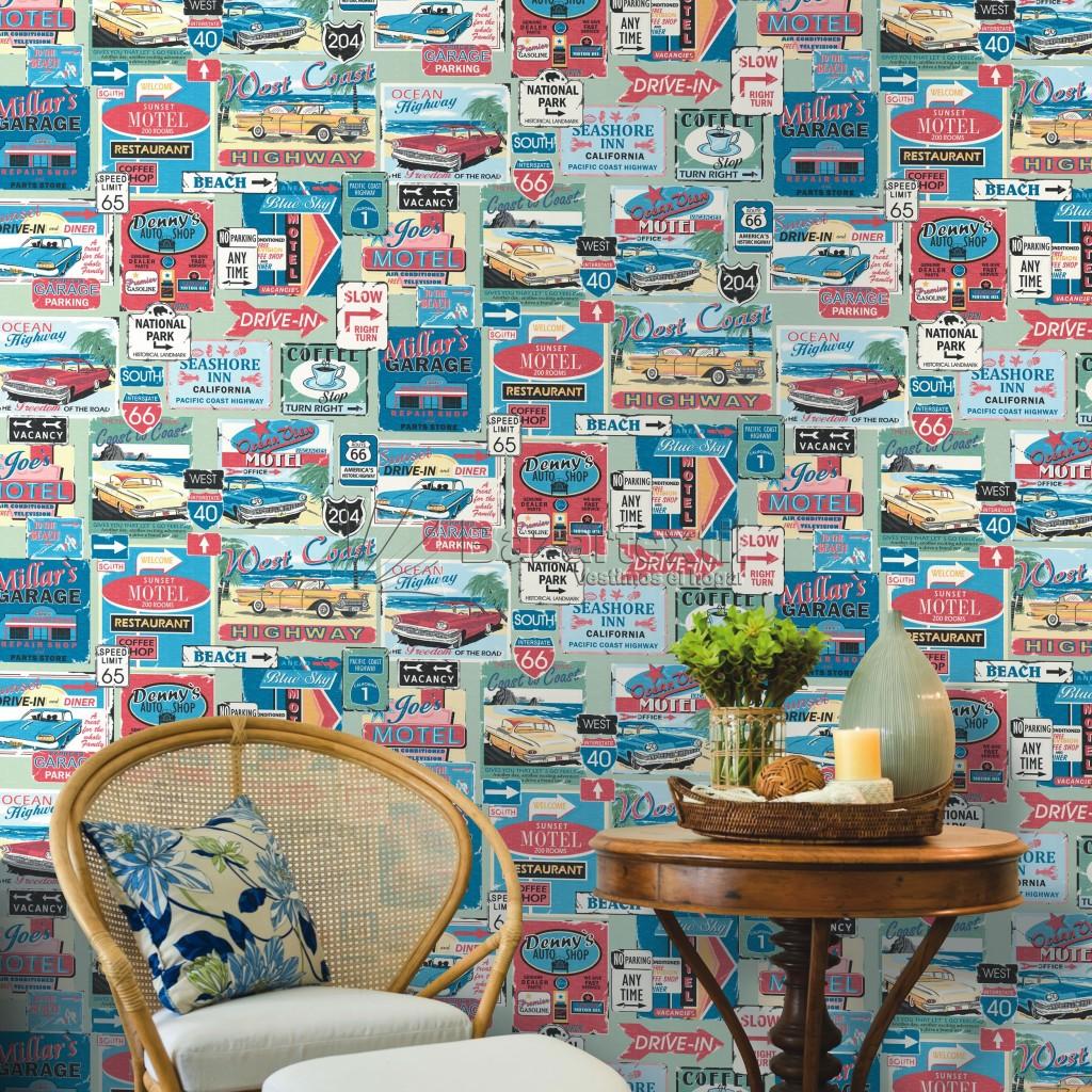 Conoces los diferentes tipos de papel pintado - Papel vintage pared ...