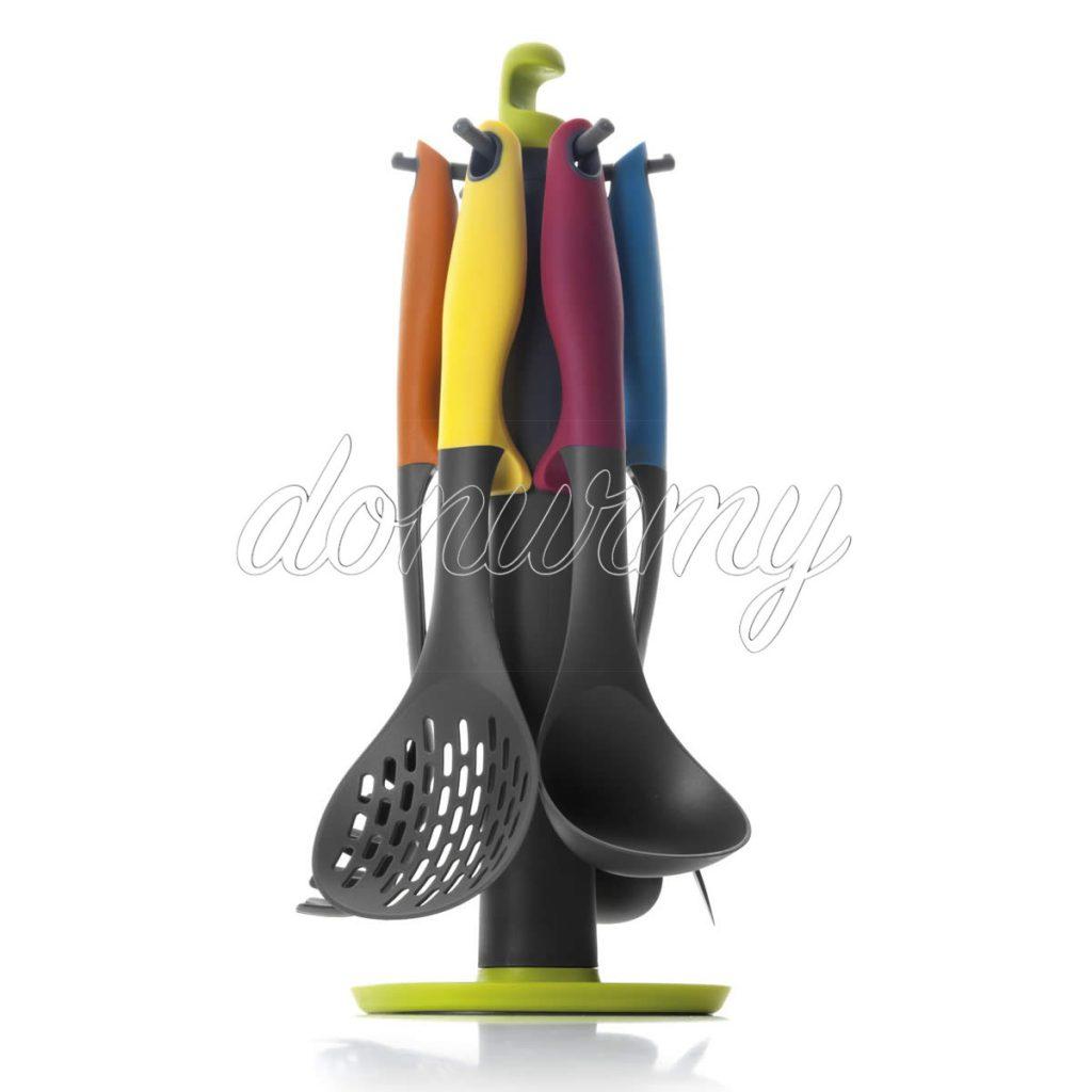 Set Utensilios y Soporte Colorful Ibili