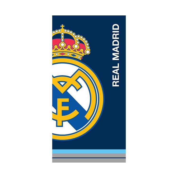 Toalla Playa Azul con Escudo Real Madrid