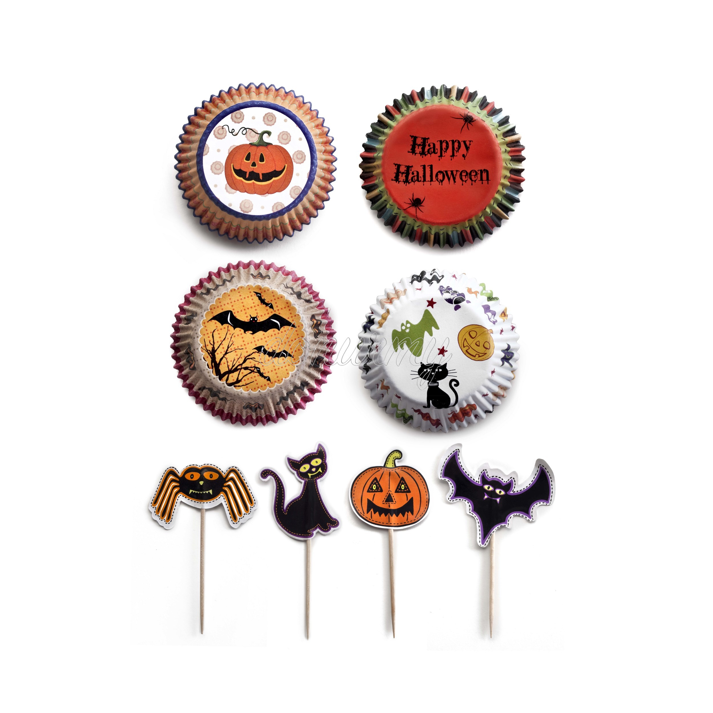 set de cápsulas para cupcakes de Halloween