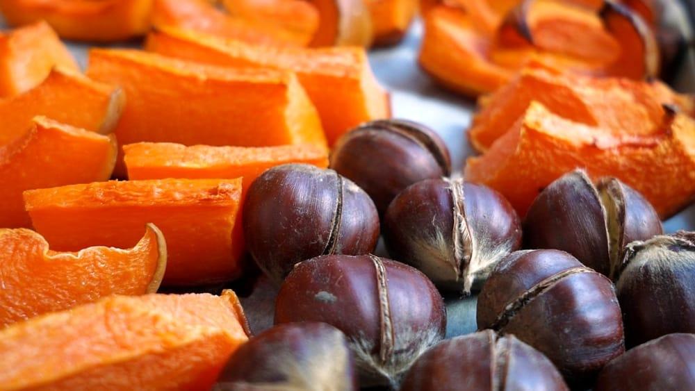 recetas de otoño de castañas y calabazas