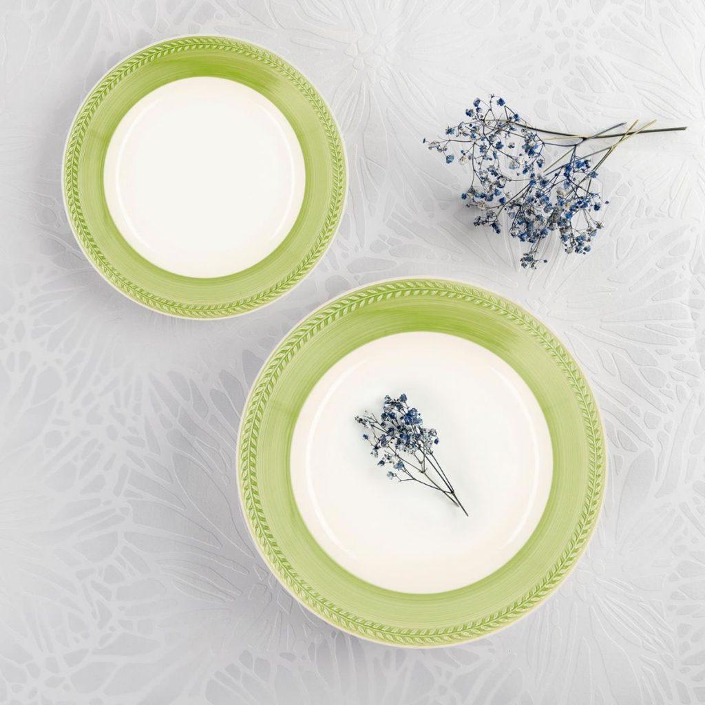 Vajilla Loza Donna Verde 18 piezas Ceramiche