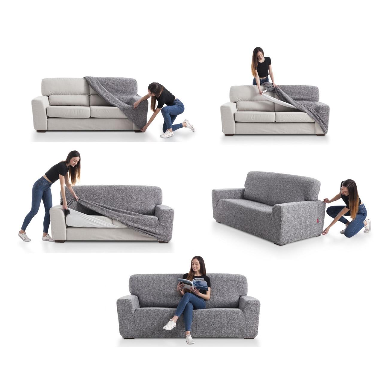 Como sujetar las fundas del sofá