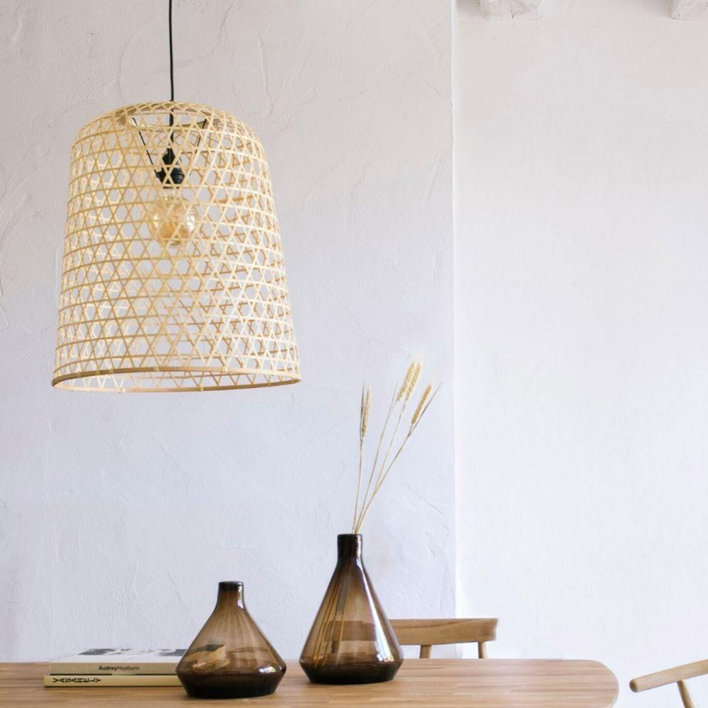 Lámpara Techo Entrelazada Bambú Andrea House