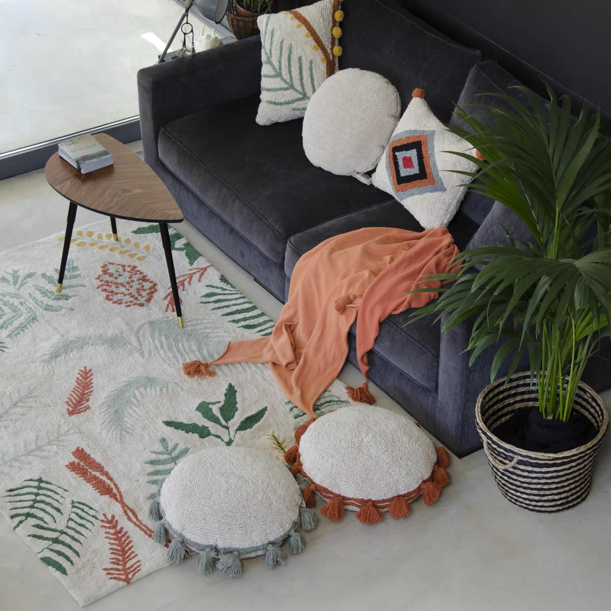 Combinar cojines para el sofa